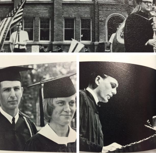 Graduation collage photo from the 1966 Venture Yearbook