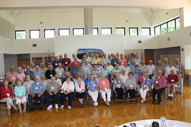 Group of WCSA alumni at the reunion